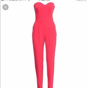 Red H&M jumpsuit